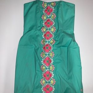 Caribbean floral embroidered dress